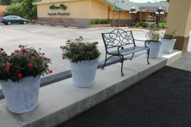 Canopy Outdoor Seating Area-Continental Inn & Suites Nacogdoches