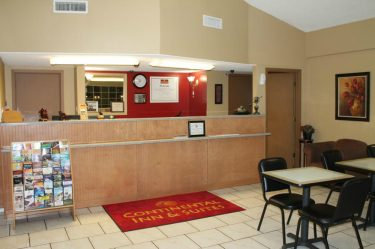 Check In Area-Continental Inn & Suites Nacogdoches